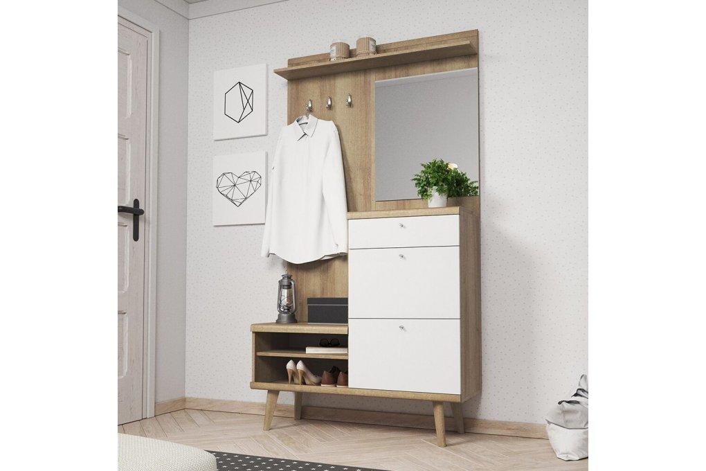 Garderoba PRIMO dąb riviera/biały