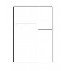 1 szafa 3-drzwiowa Cezar bryła