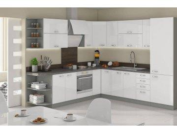 Meble kuchenne modułowe Excellence biały połysk ✓ karuzela mebli