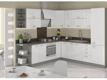 Meble kuchenne modułowe Exellence biały połysk ✓ karuzela mebli