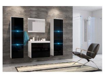 Meble łazienkowe Porto Czarny połysk | nowoczesne meble łazienkowe