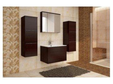 Meble łazienkowe Porto Wenge | wiszące meble łazienkowe