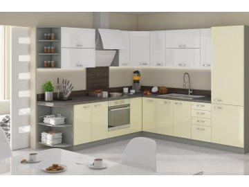 Kuchnia modułowa biała - krem - Excellence sklep meblowy karuzela mebli