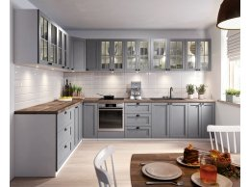 Szare meble kuchenne z kolekcji Linea grey   tanie meble online