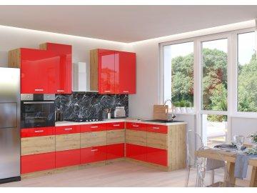 Kuchnia modułowa Artisan czerwony połysk
