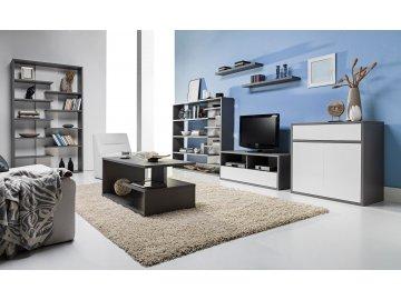 Zonda biało - szare meble modułowe do salonu | tanie meble pokojowe