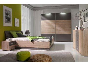 Dione san remo/popiel - nowoczesna sypialnia ✓ tanie meble online