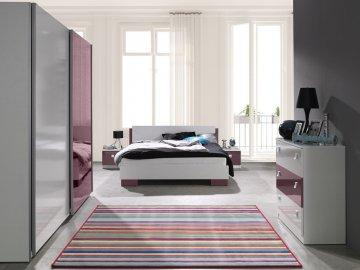 Biało fioletowe meble do sypialni Lux ✓ tanie meble online
