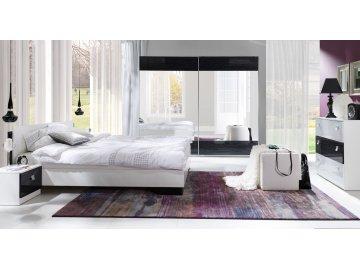 Biało - czarne meble do sypialni Lux Stripes ✓ tanie meble online